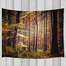 Dense Red <b>Leaf Forest</b> Tapestry <b>Wall</b> Hanging for Living Room ...