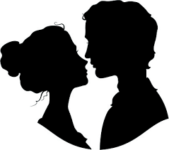 Image result for man & woman silhouette