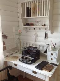 office space secretary whitewashed chippy shabby chic french country rustic swedish decor idea chic vintage home office desk cute