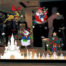 Navidad <b>Silicone</b> Glass Stickers Large Window Glass Door ...