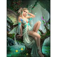 <b>Full Square Drill 5d</b> Diamond Painting Forest Butterfly Fairy Cartoon ...