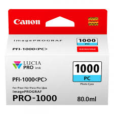 <b>Canon PFI-1000PC Photo Cyan</b> Ink Tank for Pixma PRO-1000 ...