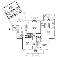 Plantation Style House Plans   Plan   Main Floor Plan