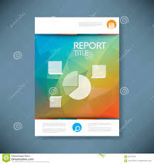 report cover template d low poly vector stock vector image report cover template pie chart symbol and 3d royalty stock images