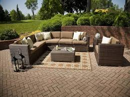 shaped sofa patio couch make your own large outdoor patio furniture with brown cushions diy ra