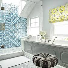 Simple Ann Sacks Glass Tile Backsplash Shower With Skylight And Beau Inside Decor