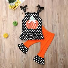Newborn <b>Baby Girl Summer</b> Clothing Halloween Sleeveless Top ...