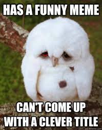 Has a funny Meme Can't come up with a clever title - Depressed Owl ... via Relatably.com