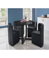 saver dining table kitchen chairs buy hygena black gloss space saver table and  chairs at argoscouk your