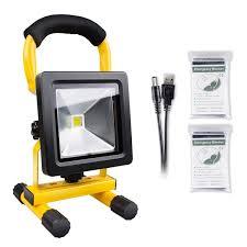 Emergency Floodlight, Morpilot <b>10W</b> LED Work Light Rechargeable ...