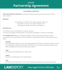 partnership agreement form partnership agreement template us partnership agreement sample