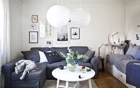 space living ideas ikea: the living room doubles as a bedroom
