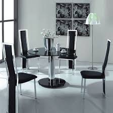 round glass extendable dining table: vo black glass round dining table with four chairs hgtv addict pinterest glass round dining table chairs and black glass