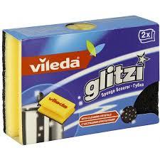 Купить <b>Губка Vileda Glitzi</b> (Глитци) для кастрюль, 2 шт по ...
