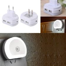 Вилка США & ЕС <b>разъем</b> привело свет ночи с двойной <b>USB</b> ...