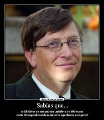 si Bill Gates se encontrara un billete de 100 euros - BillGates_1