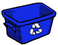 Image result for curbside recycling clipart
