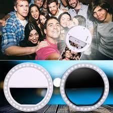 Universal <b>Selfie LED Ring Flash</b> Light Portable Mobile Phone 36 ...