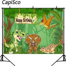 Capisco <b>Jurassic World Dinosaur Park</b> Party Background for Photo ...