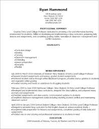 professional entry level college professor resume templates to    resume templates  entry level college professor resume