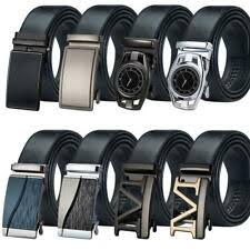 <b>Leather Belts</b> for <b>Men</b> with <b>Automatic Buckle</b> for sale | eBay