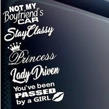 JDM GIRL CAR STICKER DECAL VINYL <b>5 PACK LOT</b> LADY ...