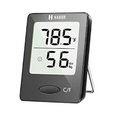 eaagd indoor thermometer humidity monitor touchscreen backlight timer smart digital hygrometer temperature gauge meter