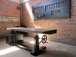 vintage industrial industrial and adjustable table on pinterest american retro style industrial furniture desk