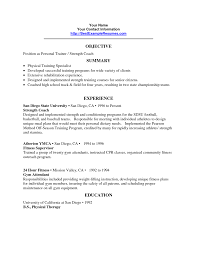 personal trainer strength coach resume sample eager world it