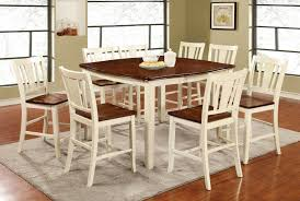 cherry counter height piece:  piece dover counter height dining set in vintage white amp cherry finish