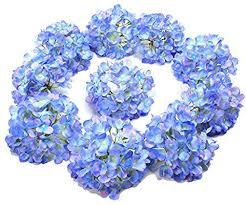 LUSHIDI <b>10PCS</b> Silk <b>Hydrangea</b> Heads with Stems Artificial <b>Flowers</b>