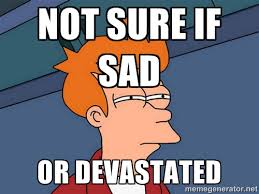 not Sure if sad or devastated - Futurama Fry | Meme Generator via Relatably.com