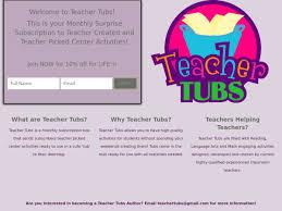 teacher tubs