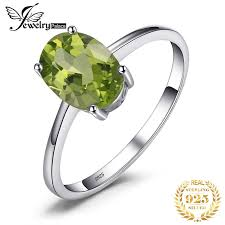 <b>JewelryPalace</b> Peridot Ring <b>Genuine 925 Sterling</b> Silver | Shopee ...