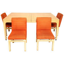 dining table with wheels: mid century modern baker far east collection dining table amp  chairs