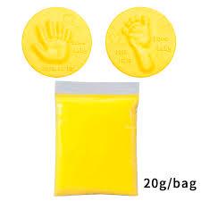 Soft Clay Fluffy Foam Supplies DIY Baby Care <b>Hand Foot Inkpad</b> ...