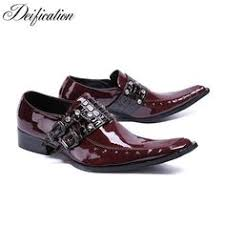 <b>Deification Mens Italian Leather</b> Shoes Chic Sequin Studded ...