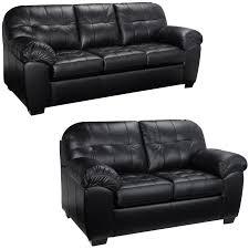 furniture black italian leather cheap black sofa set office