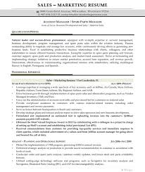 resume samples for s and marketing jobs account manager 2