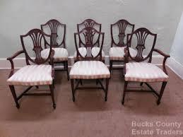 hepplewhite shield dining chairs set:   jpgset id