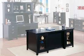 tribeca loft black office furniture double pedestal executive desk black office desks