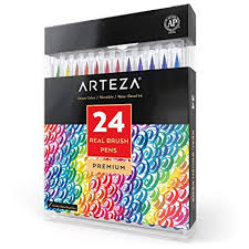 24 color watercolor painting markers
