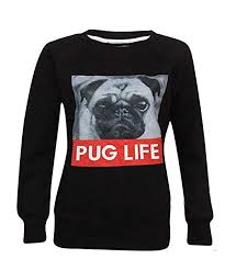 SUFIAH ® <b>Mens</b> Womens <b>Pug Life</b> Sweatshirt Hipster Swag <b>Dog</b> ...