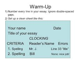 warm up  number every line in your essay ignore double spaced  warm up  number every line in your essay ignore double spaced