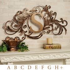 designs outdoor wall art: evanston indoor outdoor monogram metal wall art sign