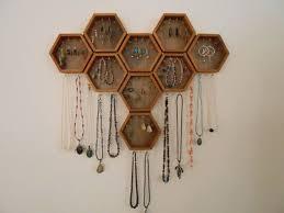 <b>Honeycomb Jewelry Display</b> Rack for earrings, bracelets, <b>necklaces</b> ...