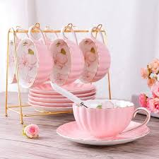 British <b>High</b>-<b>Grade Bone China</b> Coffee Cup Set in 2020 | Tea cups ...