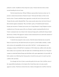origins of the cold war essay   productive