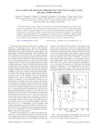 (PDF) Laser acoustics with picosecond collimated shear strain ...