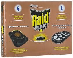 """Средство от <b>тараканов RAID</b> """"Мax"""": <b>приманка</b> (4 штуки) + ..."""